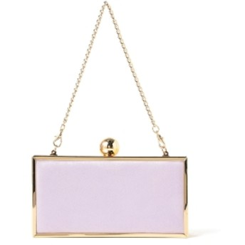 Demi-Luxe BEAMS 【滝沢眞規子 着用】【BAILA1月号掲載】Demi-Luxe BEAMS / 3WAY ボックスバッグ レディース ショルダーバッグ LAVENDER ONE SIZE