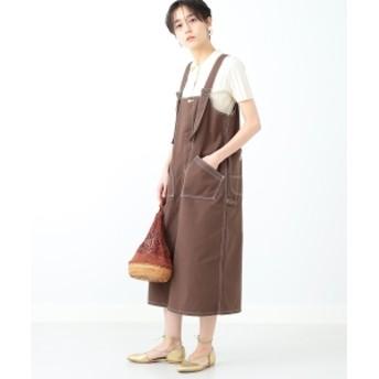 【WEB限定】Lee / ジャンパースカート レディース その他ワンピース 468 DK. BRN S