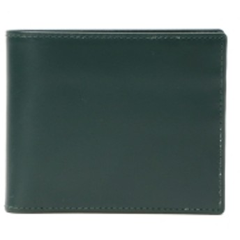 BEAMS F ETTINGER / ブライドルレザー 2つ折りウォレット メンズ 財布 GREEN ONE SIZE