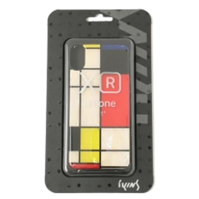 38ff2b84ce ikins / PEARL iPhoneXR ケース メンズ モバイルケース・カバー Mondrian ONE SIZE