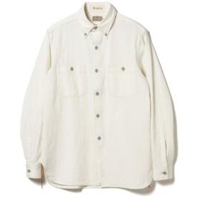 <MEN>BUZZ RICKSON'S × fennica / 別注 シャンブレー ボタンダウン シャツ(ワンウォッシュ) メンズ カジュアルシャツ OFF WHT M