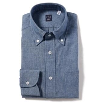 BEAMS F / シャンブレー ボタンダウンシャツ メンズ ドレスシャツ INDIGO 42