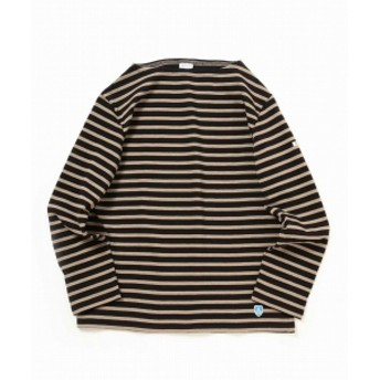 ORCIVAL × B:MING by BEAMS / 別注 ボーダー バスク シャツ メンズ カットソー BLACK 4
