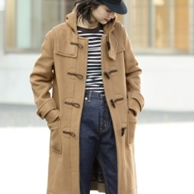 Demi-Luxe BEAMS LONDON TRADITION LONDON Tradition / 別注 パネルダッフルコート レディース CAMEL 36