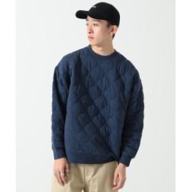 BEAMS / キルト中綿 クルーネック スウェットシャツ メンズ スウェット NAVY M