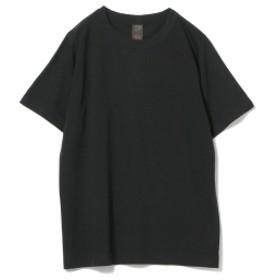 <MEN>homspun / 天竺 半袖 Tシャツ 18AW メンズ Tシャツ BLACK S