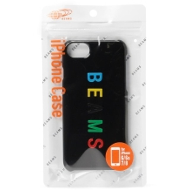 1bbd42c774 BEAMS / カラーロゴ iPhone8・7ケース メンズ モバイルケース・カバー BLACK ONE SIZE