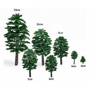 ジオラマ 模型 木 森 材料 キット 鉄道 庭 建物 100本セット(5cm)