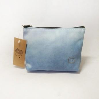 Puputraga /ナチュラルカラーの手染め小さな正方形のバッグ - バスケットパープル染料
