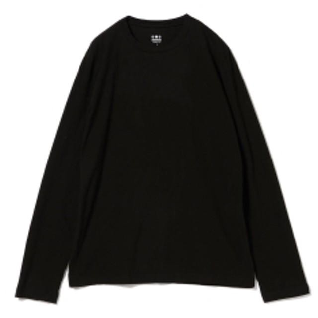 three dots / ロングスリーブ クルーネックカットソー メンズ Tシャツ BLACK M
