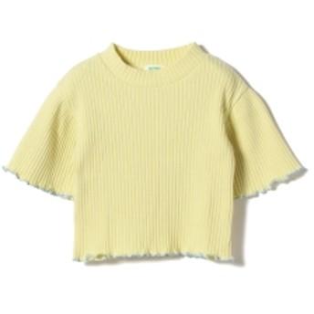 BEAMS mini BEAMS mini / モックネック フレアーTシャツ (90~120㎝) キッズ カットソー LEMON 120