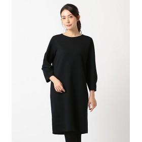 【SALE(三越)】<自由区> DOUBLE CLOTH ニットワンピース(OPWMYW0104) クロ 【三越・伊勢丹/公式】