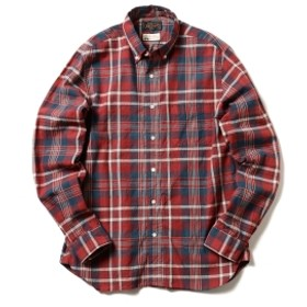BEAMS PLUS / マドラス ボタンダウンシャツ メンズ カジュアルシャツ RED S