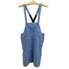 【中古】カリアング KariAng ワンピース ジャンパースカート スリット ミニ S 水色 ブルー レディース