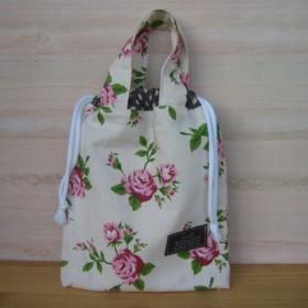 ◆SALE30%OFF◆持ち手付き巾着トートバッグ ナチュラル花柄