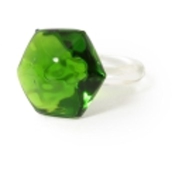 maturely / Glass Ring レディース リング GREEN ONE SIZE