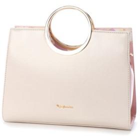 リトルアクセサリーズ LITTLE accessories 丸型金属ハンドル付き2WAYバッグ (ライトピンク)