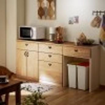【受注生産】キッチンにぴったり!壁面収納ローキャビネット キナコ(MIEL-3)