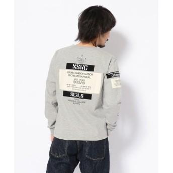 アヴィレックス ワッペン ステンシル クルーネックTシャツ/WAPPEN STENCIL CREW NECK T SHIRT メンズ OXFORD M 【AVIREX】