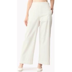 【Theory】Cotton Taffeta Wide Leg Pull On Pant