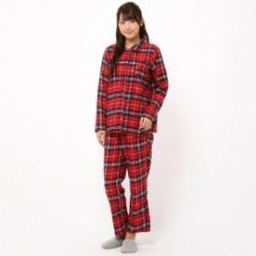 チェックネル前開きパジャマ