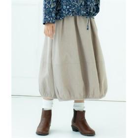 綿100%肉厚ダブルガーゼバルーンスカート (ロング丈・マキシ丈スカート)