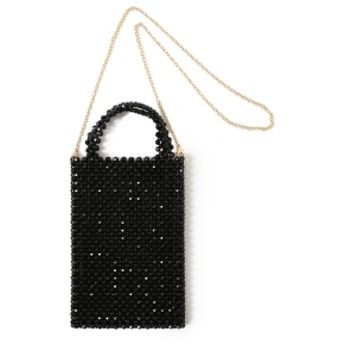 maturely / Beads Tote & Shoulder Bag レディース ショルダーバッグ BLACK ONE SIZE
