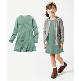 AラインTワンピース(女の子 子供服。ジュニア服)ポケット付 ワンピース
