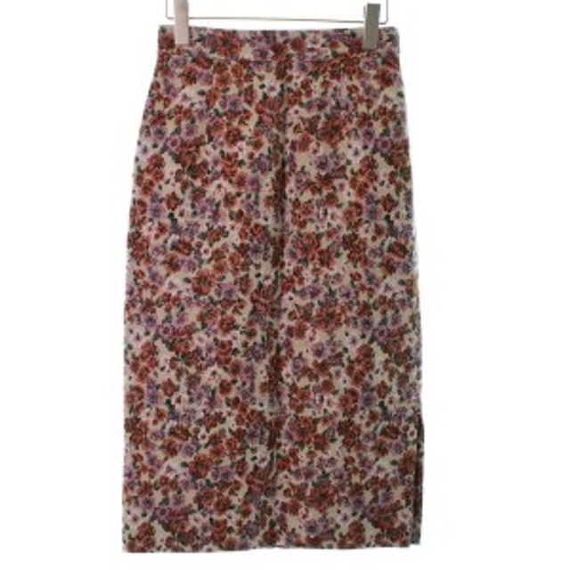 NATURAL BEAUTY BASIC / ナチュラルビューティベーシック レディース スカート 色:オレンジ系x紫系xベージュ系等(花柄) サイズ:S