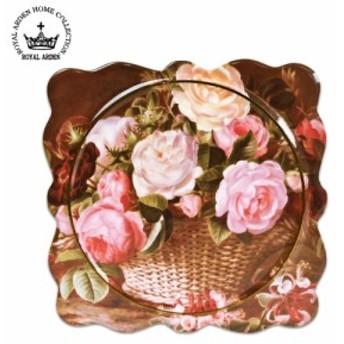 ロイヤルアーデン 陶器シリーズ パンマット(鍋敷) バラ柄K 37437