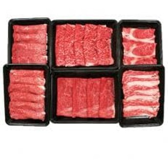宮崎牛すきやき食べ比べ6点セット(1.4kg)