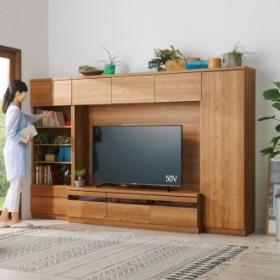 天然木調テレビ台ハイバックシリーズ オープンキャビネット・幅60.5奥行34.5cmブラウン