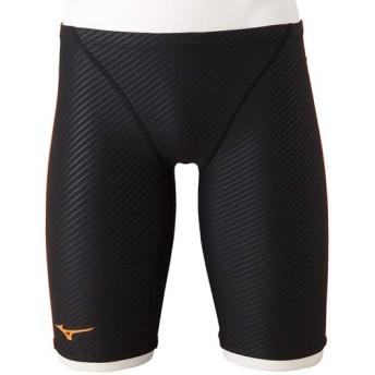MIZUNO SHOP [ミズノ公式オンラインショップ] 競泳練習用ハーフスパッツ[メンズ] 95 ブラック×オレンジクラウンフィッシュ N2MB8072