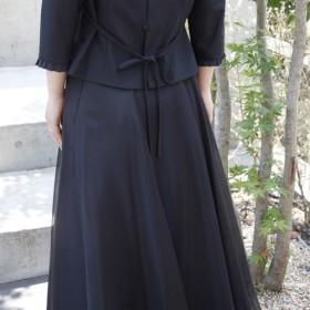 コーラス・演奏会に / ふんわり&はなやか オーガンジースカート(ブラック) 1-0171