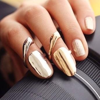 アートネイルリング チップリング ネイル 指先の指輪 爪の指輪 ネイルリング シンプル 一番売れてるネイルリング ファランジリング ミディリング 関節の指輪 フォークリング レディース mtr038