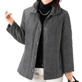 ベルーナ 杢調素材中わたジャケット<ケミー> グレー LL レディース