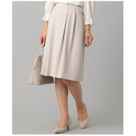 組曲 【セットアップ対応】コンパクトダブルクロス スカート その他 スカート,ライトグレー系
