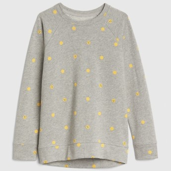Gap スマイリー ラグランスウェットシャツ