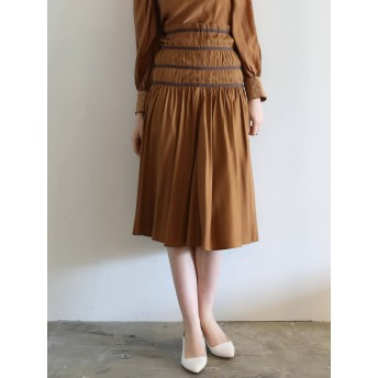 [LAGUNAMOON]タックフレアースカート