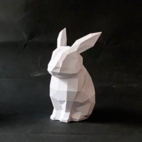 3Dペーパークラフト_DIYキット_うさぎ装飾