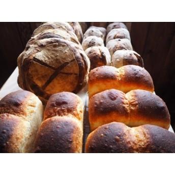 薪窯焼き自家製酵母パン4種と自家栽培ブルーベリージャムセット