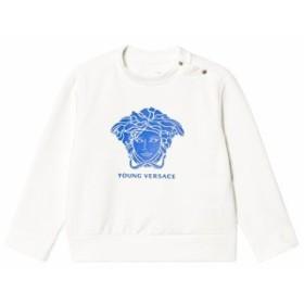 ヤングヴェルサーチ デニムスカート スカート キッズ 男の子【Young Versace White and Pale Blue Medusa Sw