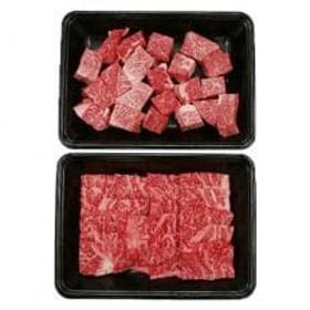 宮崎牛サイコロステーキ・焼肉セット(ももサイコロステーキ・ロース焼肉)