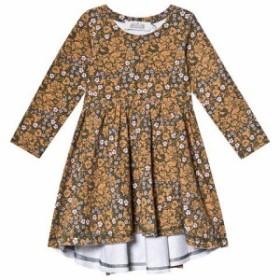 ドレス カジュアルドレス キッズ 女の子【ANIVE for the minors Green And Brown Bysans Dress】