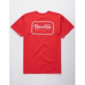 ブリクストン Tシャツ カットソー デザインTシャツ メンズ【BRIXTON Grade Red Mens T-Shirt】 RED