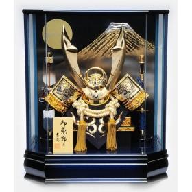 【五月人形】ベビーザらス限定 兜ケース飾り「青月光六角」【送料無料】