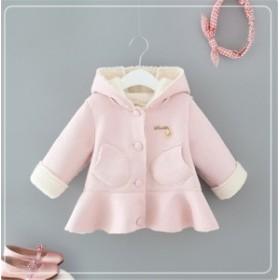 子供服2018秋と冬の新しい女の子の子羊のコートプラス厚いビロードの子供のコート