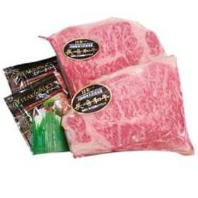 松浦食肉組合厳選A4ランク以上長崎和牛ロースステーキ200g×2枚(ステーキソース付き)