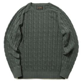 BEAMS PLUS / ケーブル クルー ニット 5G メンズ ニット・セーター CHARCOAL.G S