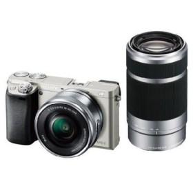 ソニー ミラーレス一眼カメラ「α6000」ダブルズームレンズキット(シルバー) SONY ILCE-6000Y-S 未開封新品